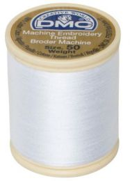 DMC Machine Embroidery Thread, Size 50 - Snow White (Color #B5200)