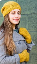Downy Garter Hat & Mitts - Free Download with Stratus Purchase of Two or More Skeins