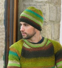 Dream Men's Sweater and Hat Pattern (Purchase ONLY ONE COPY to get all the patterns from Noro Romance)