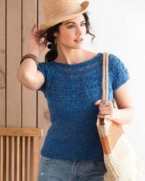 Drop Stitch Yoke Top