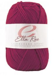 Ella Rae Cashmereno Sport - Pomegranate (Color #16) - FULL BAG SALE (5 Skeins)