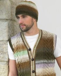 Embrace Men's Cardigan, Waistcoat and Hat Pattern (Purchase ONLY ONE COPY to get all the patterns from Noro Romance)