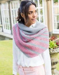 Esme Striped Shawl - Free with WYS Yarn Purchase (One Free Pattern Per Purchase/Person Please)