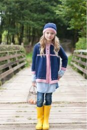 Fair Isle Border Coat & Hat - Free with WYS Yarn Purchase (One Free Pattern Per Purchase/Person Please)