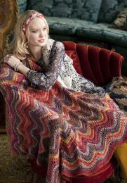 Feather and Fan Blanket - Free with Purchase of 5 Skeins of Tabi(PDF File)