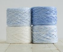 Feza Baby Gradient Blanket Kit - White to Baby Blue (Item #501)