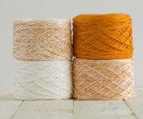 Feza Baby Gradient Blanket Kit - White to Orange (Item #507)