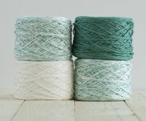 Feza Baby Gradient Blanket Kit - White to Dark Jade (Item #519)
