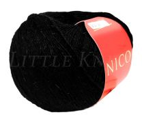 Feza Nico - Black with Black Glimmer (Color #902) - FULL BAG SALE (5 Skeins)