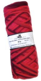 Schoppel Wolle Fingerwoll Pencil Roving - Red, Pink & Happy (Color #1963)