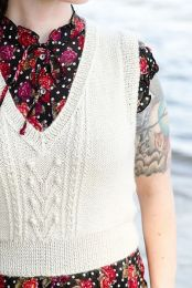 Flower Front Vest - A Juniper Moon Stargazer Pattern - FREE WITH PURCHASES OF 3 OR MORE SKEINS OF Stargazer (PDF File)