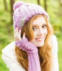 Illustrious - Isabella Cabled & Bobble Hat & Hand Warmers - FREE PATTERN LINK TO DOWNLOAD IN DESCRIPTION (No Need to add to Cart)