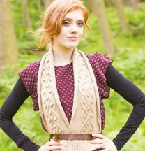 Illustrious - Lucille Cable & Bobble Scarf - FREE PATTERN LINK TO DOWNLOAD IN DESCRIPTION (No Need to add to Cart)