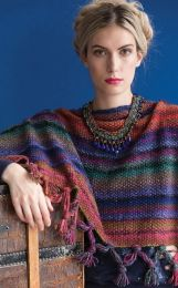 Fringed Poncho - Free with Purchases of 10 Skeins of Noro SIlk Garden (Pdf File)