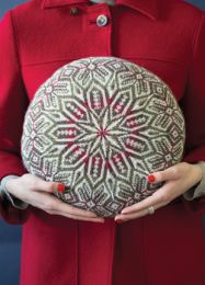 Fair Isle Round Pillow by Hazel Tindall - Vogue Knitting Fall 2016 (Price is for the whole magazine)