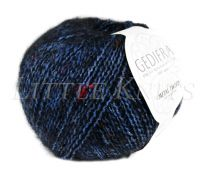 Gedifra Metal Tweed - Navy (Color #757)