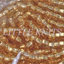 Preciosa 6/0 Czech Seed Beads - Silver Lined Gold (Color #17050 )