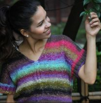 Half Sleeve Top - Free Download with Purchase of 3 Skeins of Noro Taiyo