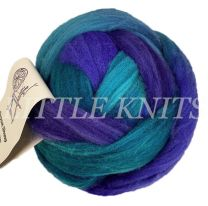 Brown Sheep Hand-Painted Roving - Teal Sunset (Price is for BIG 8 Ounce balls)