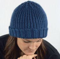 Ribbed Beanie  - A Cozy Alpaca Chunky Pattern - FREE WITH PURCHASES OF 2 SKEINS OF COZY ALPACA CHUNKY