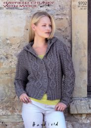 Hoodie in Hayfield Chunky with Wool #9702