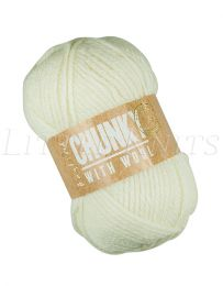Hayfield Chunky with Wool - Cream (Color #0962)