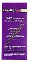 US 10 - 5'' HiyaHiya SHARP Interchangeable Needle Tips- Size U.S. 10 (6mm)