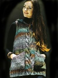 Hooded Sleeveless Jacket (Included in Noro the World of Nature 28)