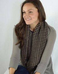 Houndstooth Tweed Scarf - Free With Purchases of 4 Skeins of Cozy Soft Chunky (PDF File)