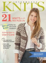 Interweave Knits - Summer 2015 Cover