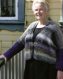 Revisited: Transitions by Cornelia Hamilton - Avesta Jacket (Free with 5 or more skeins of Noro Transitions)