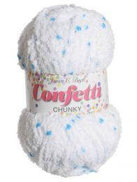 James C Brett Confetti Chunky - Blue Swirl (Color #003)