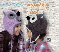 James C. Brett Hat Kit - Monkey - Purple and Grey (Color #09)