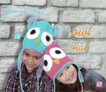 James C. Brett Hat Kit - Owl - Blue and Purple (Color #02)