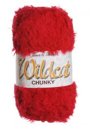 James C Brett Wildcat Chunky - Red (Color #003)