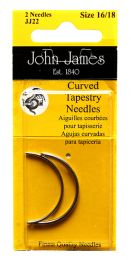 John James Curved Tapestry Needles - Size #16/18