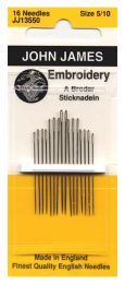 John James Embroidery Needles - Size #3/9