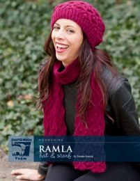 Juniper Moon Farm Moonshine - Ramla Hat and Scarf by Tabetha Hedrick