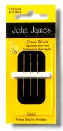 John James Gold Plated Tapestry-Cross Stitch Needles - Size #26