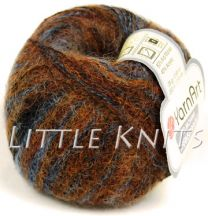 Feza Yarn Art Kid Mohair - Chocolate and Pewter (Color #4)