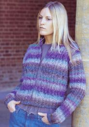 Knot Cable Jacket - A Noro Silk Garden Pattern (PDF File)