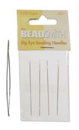 Beadsmith Big Eye Beading Needles - Size 2.125 inch (Item #LE2-4)