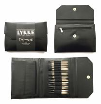 LYKKE Driftwood 3.5 Inch Interchangeable Circular Knitting Needle Set - Black Faux Leather