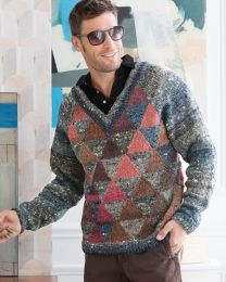 Man's Raglan Pullover (Free Download with Noro Kagayaki Purchase of 5 or more skeins)