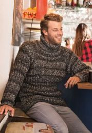 Men's Pullover - Included in Moments 020 - Free With Purchases of 5 Skeins/One bag of Tweed Style (Please Add to Cart)