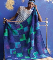 Mitered Squares Blanket - Free with Purchase of 5 Skeins of Tabi(PDF File)