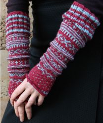 Regia Premium Silk - Mitts with Norwegian Pattern - FREE PATTERN LINK TO DOWNLOAD IN DESCRIPTION (No Need to add to Cart)