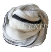 Brown Sheep Wool Top/Roving for Spinning & Felting - Black and White (Price is per 4 ounce balls)