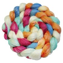 DragonFibers Merino Silk Bamboo Roving - Fire and Ice