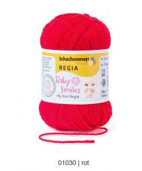 Baby Smiles My first Regia - Red (Color #1030) - 25 Gram Skeins